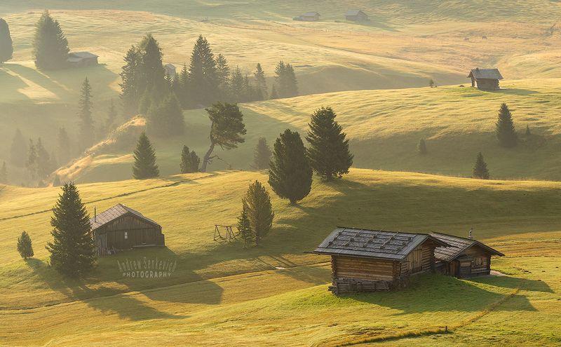 плато, доломиты Предпоследний летний рассвет на платоphoto preview