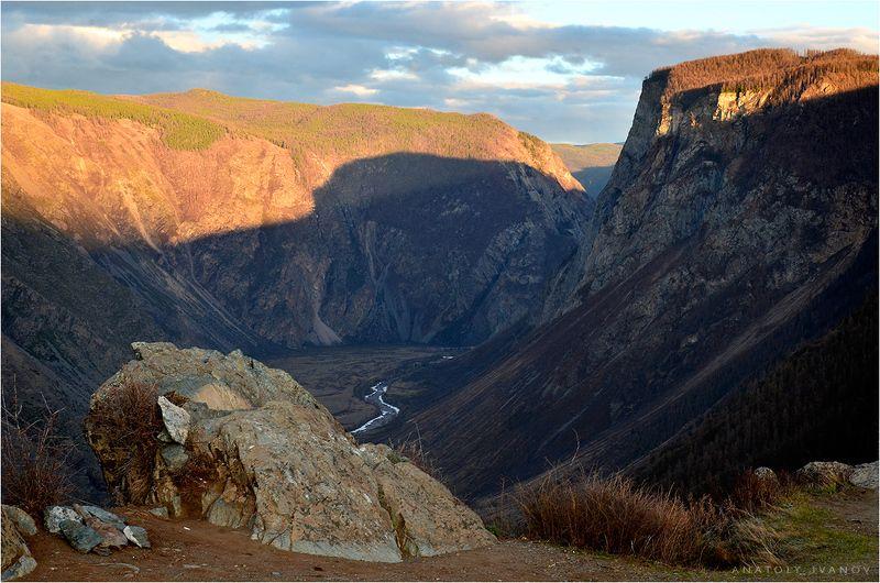 алтай, чулышман, каньон, вечер, свет Каньон Чулышмана. Вечер.photo preview