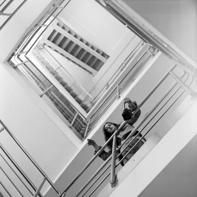film, black, white, ilford, medium, format, 6x6, staircase Sofiaphoto preview
