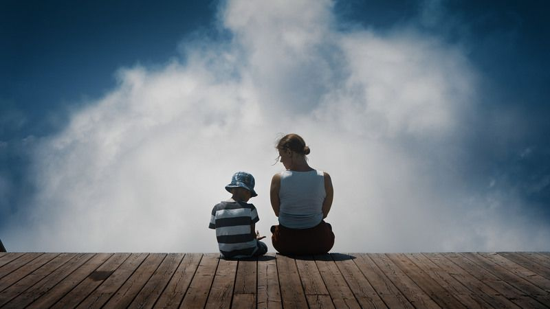 sitting, sky, boy, female, son, mom, women, mountain, clouds, family, cinematic, cine, colors, colorgrade, colorgrading, film, still, shot, film look, sony, a6300, sochi, caucasus Sitting in the skyphoto preview