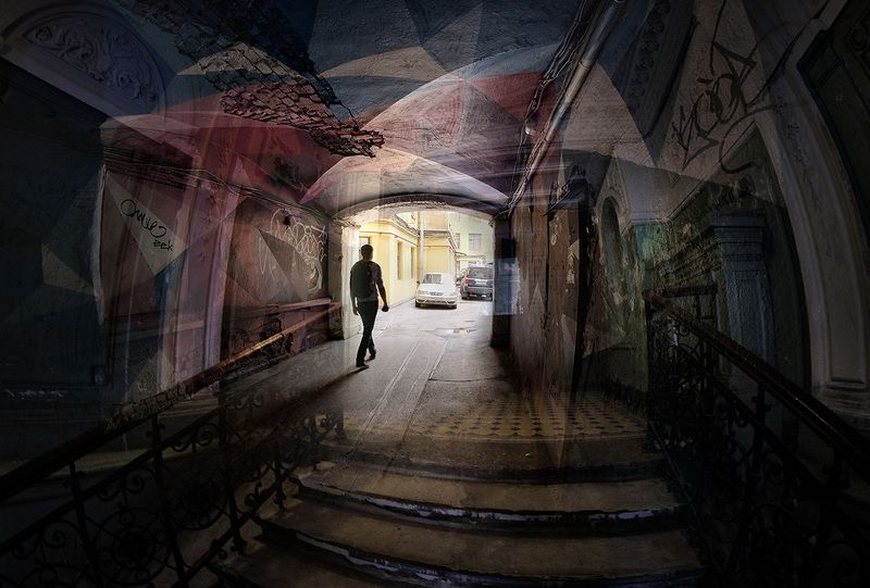 санкт-петербург, город, дворы Цветное настроениеphoto preview