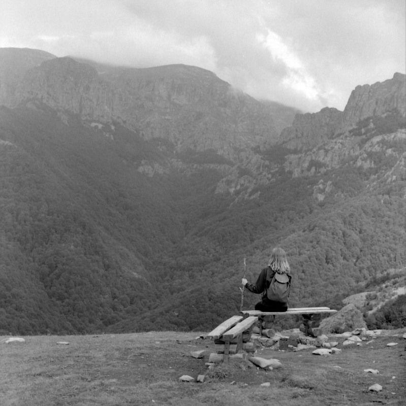 film, mountains, hiking, panorama, black, white, scene, bulgaria, balkan Travellerphoto preview