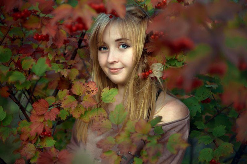 портрет, девушка,осень Осенний портретphoto preview