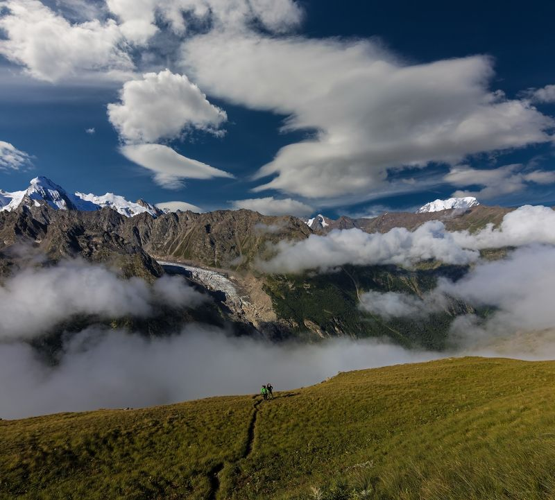 горы, облака, кавказ как манит высота....photo preview