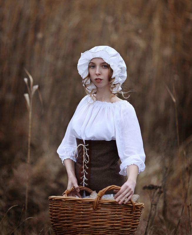 исторический костюм, служанка, костюм служанки, девушка с корзиной Служанка.photo preview