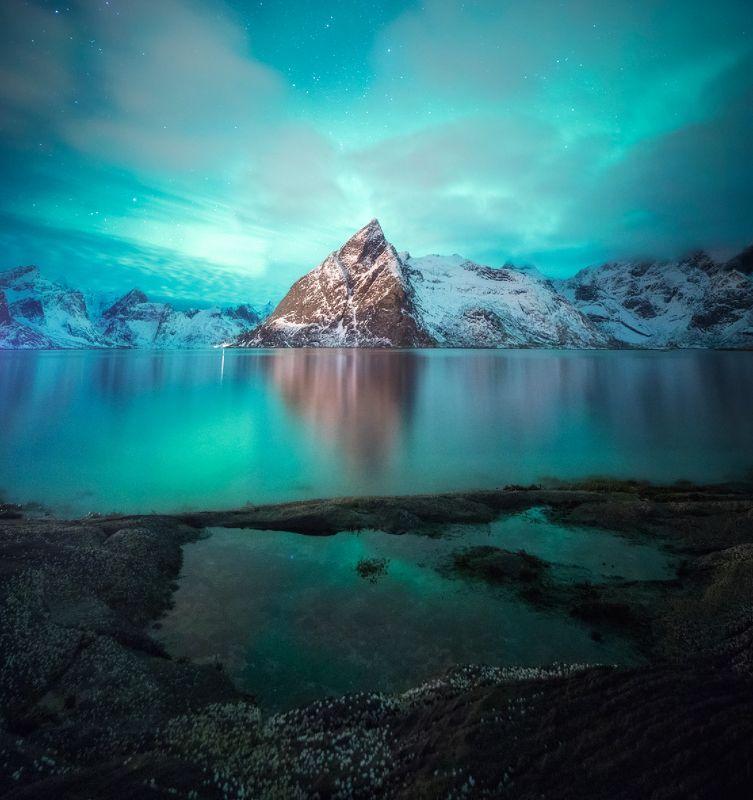 norway, lofoten, aurora, north Олстиндphoto preview