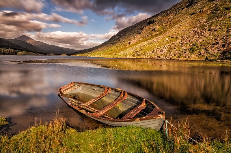 lake, ireland, sky, sunset, boat Black Valley vol.2photo preview
