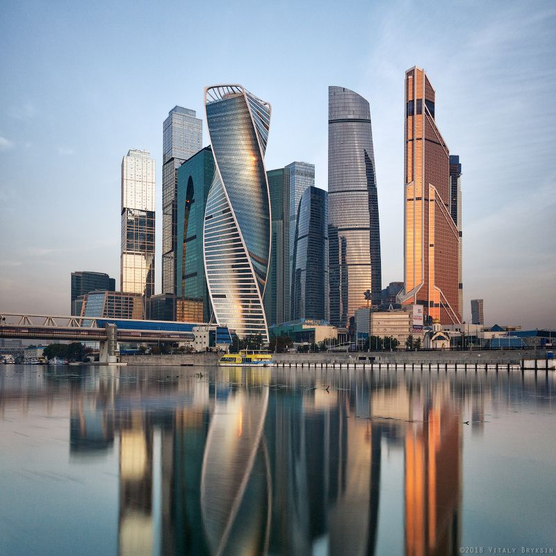 москва москва-сити moscow urban Воскресно-утренний Ситиphoto preview