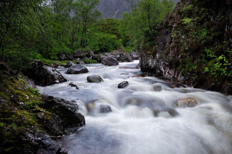 водопад, шотландия, гленко, etive mor Водопады у Etive Morphoto preview
