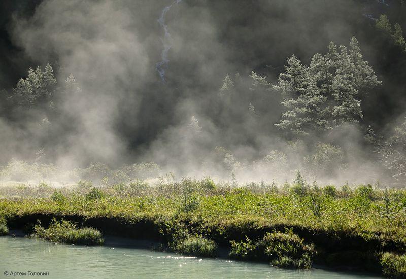 altay, алтай, туман Утро после дождя.photo preview