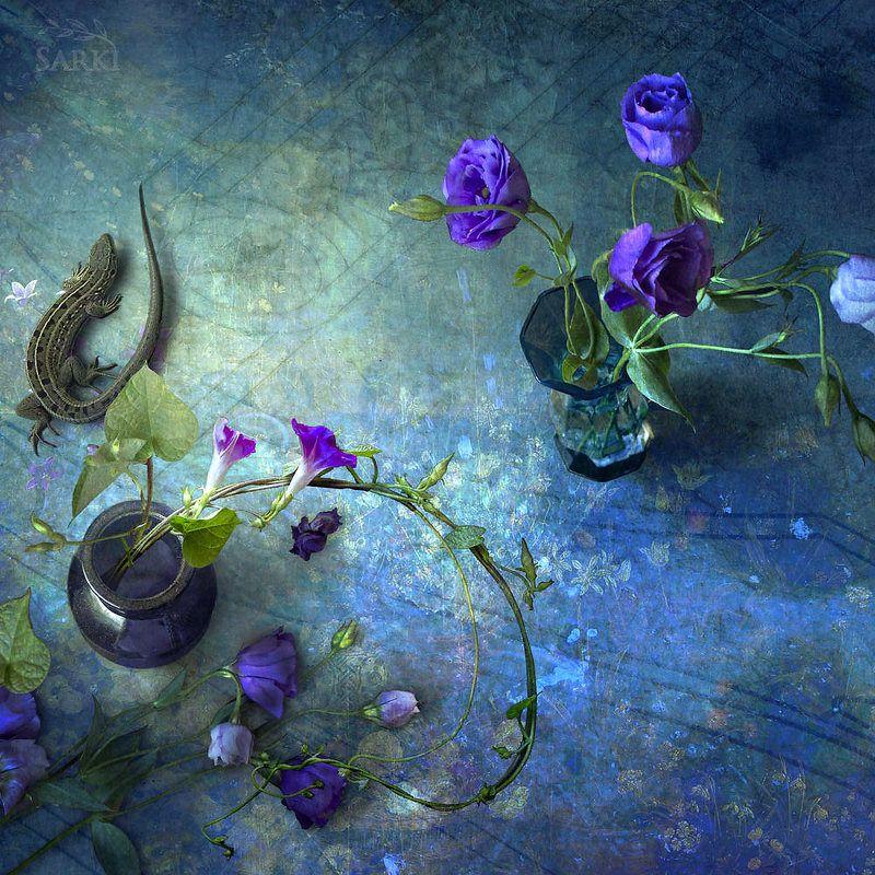 sarki ящерица цветы с ящеркой.photo preview