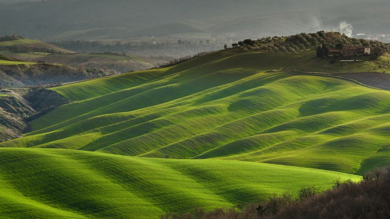 tuscany, тоскана, италия, italy, зеленые поля тосканы, green hills of tuscany Весенняя Тосканаphoto preview
