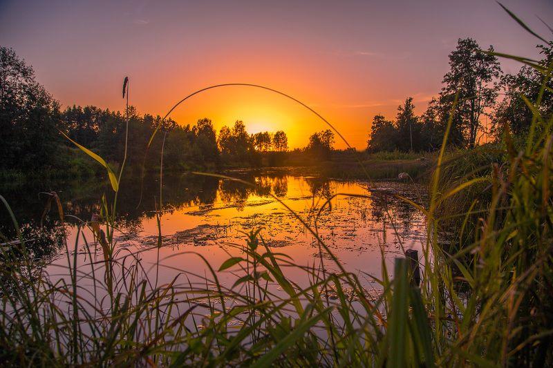 закат, Россия, Ивановская область, Лежнево Аркаphoto preview