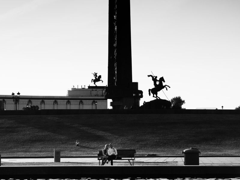 Moscow, Russia, Park, Black and white, Leisure, Monochrome, Street A peaceful timephoto preview