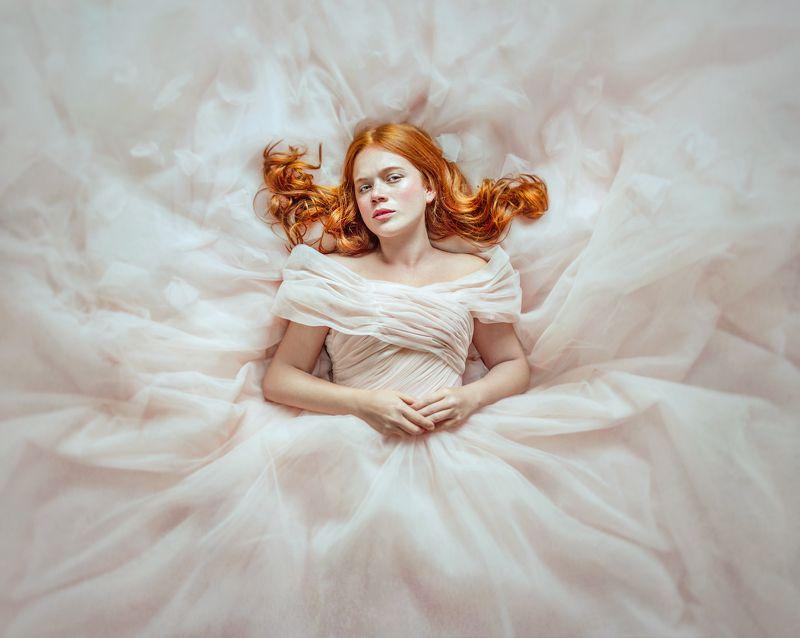 портрет, portrait, red hair, dress, платье, рыжие волосы Валентинаphoto preview