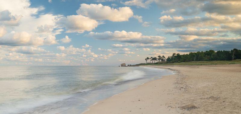 морской пейзаж, море, рассвет, пляж, пальмы Лагуна на рассветеphoto preview