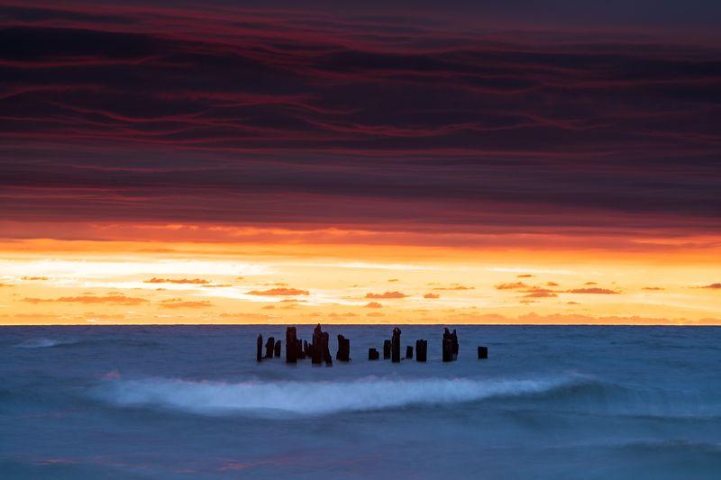 Ядерный закат в балтийском мореphoto preview