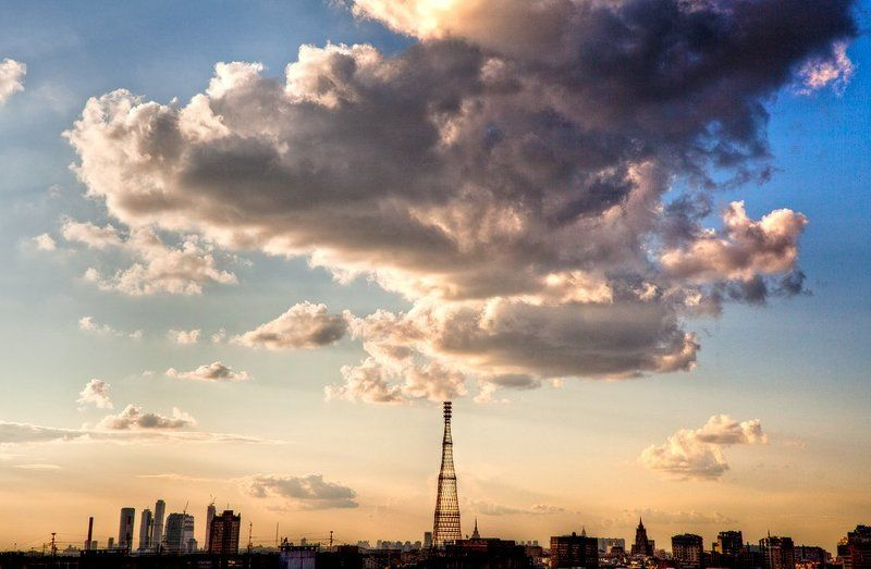 город, крыша, крыши, москва, шаболовка, шуховская, башня, телебашня Королеваphoto preview