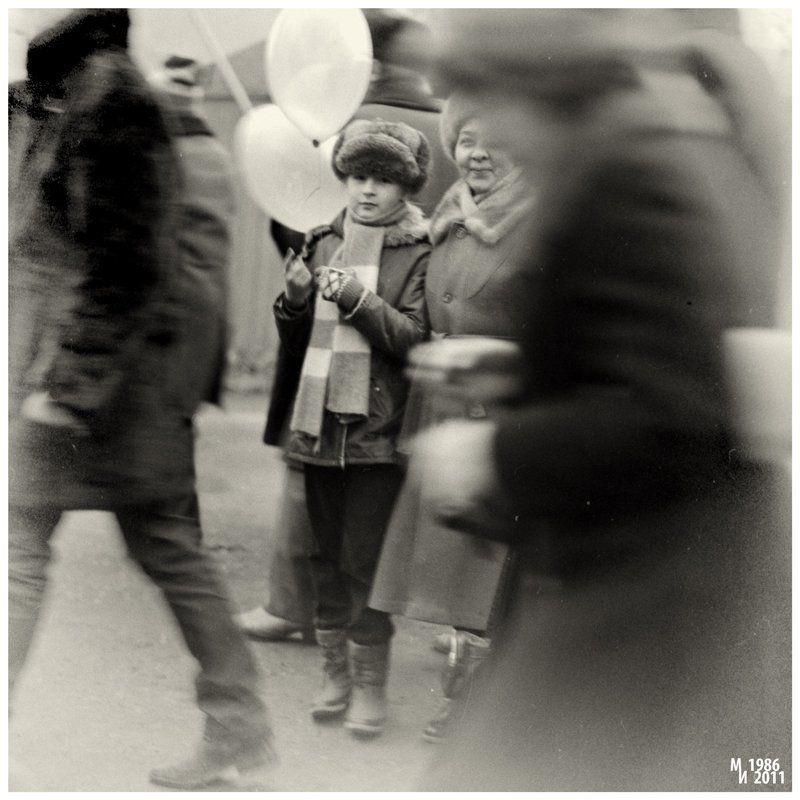 ч/б, негатив, пленка, 6х6 Фото на память. Год 1986photo preview