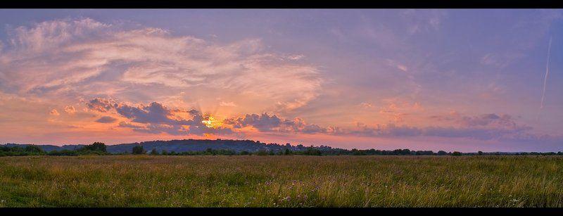 закат, панорама, пейзаж, поле photo preview