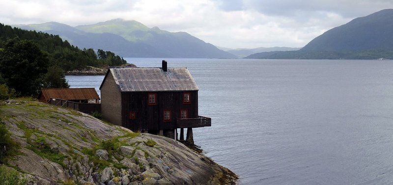 норвегия, фьорды Tingvollfjordenphoto preview