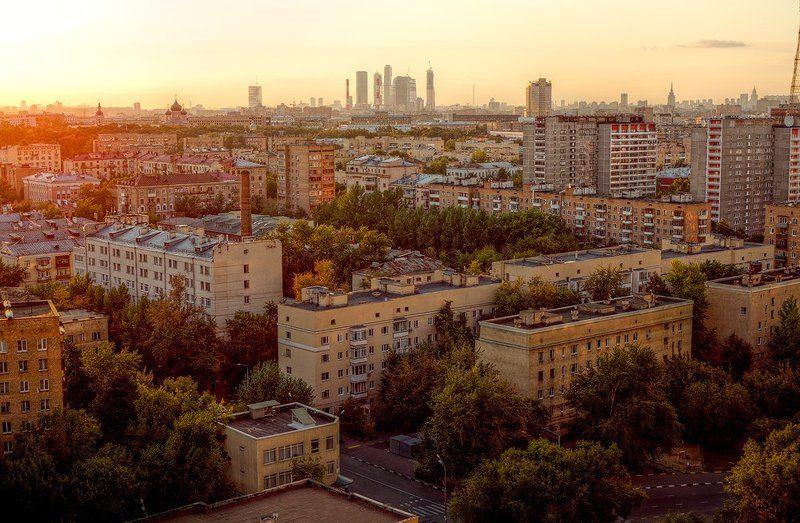 крыша, крыши, город, москва, лето, закат Кончится летоphoto preview