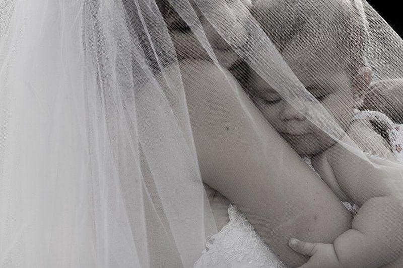 мама, невеста, ребенок, портрет, фата Уже мамаphoto preview