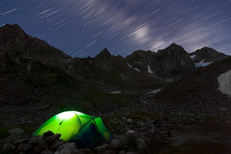ночь, звезды, горы, палатка, архыз, ночевка, стоянка, вершина, кавказ, млечный путь Спартаковские стоянкиphoto preview