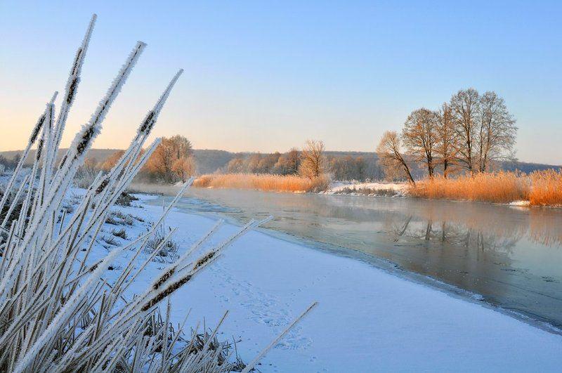 утро, зима, тишина, река зимнее утроphoto preview