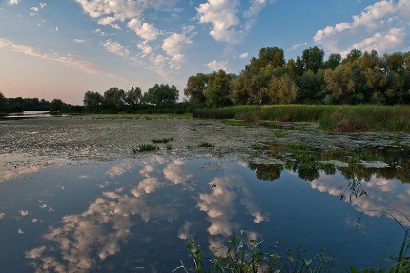 киев,десенка,вечер,облака,лето,залив, ***photo preview