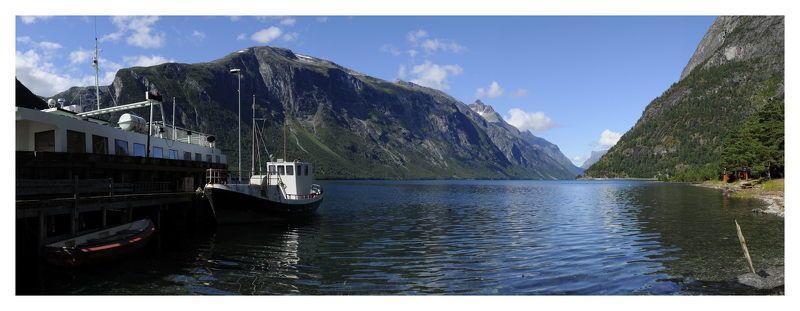 норвегия, фьорд Открытка с Фьордов ...photo preview