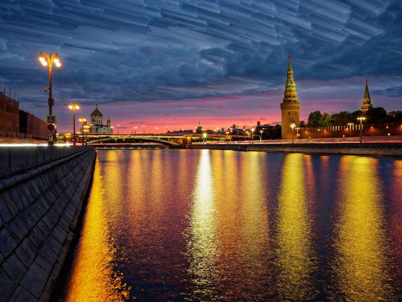город, Москва, архитектура, закат, красота, небо, река, отражение, фото Москва, сентябрь 2018 photo preview