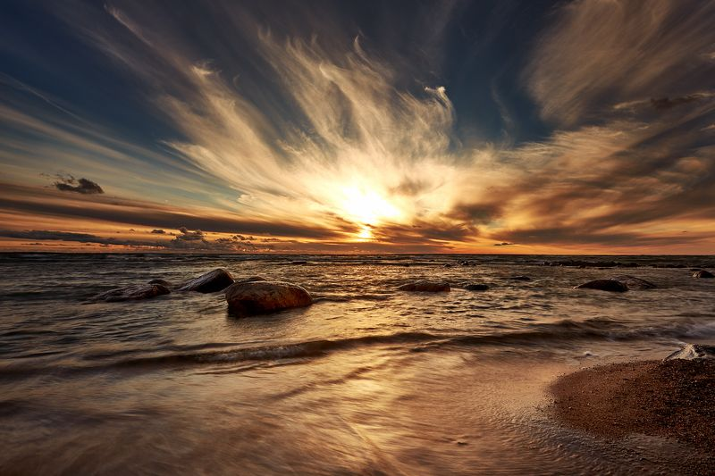 закат, море, небо, солнце, таллин, прибалтика закат на Балтийском мореphoto preview