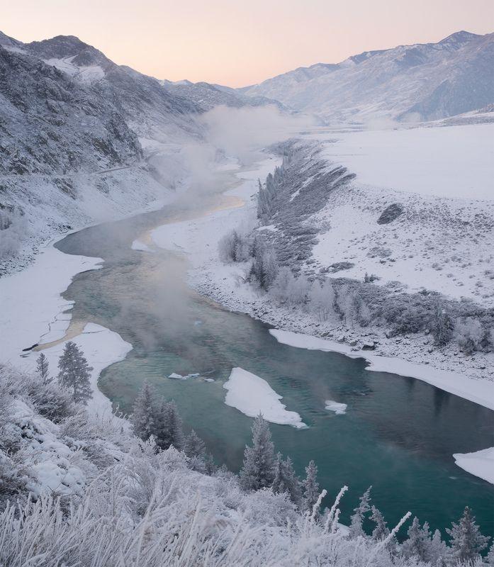 ...Вечер у зимней реки...photo preview