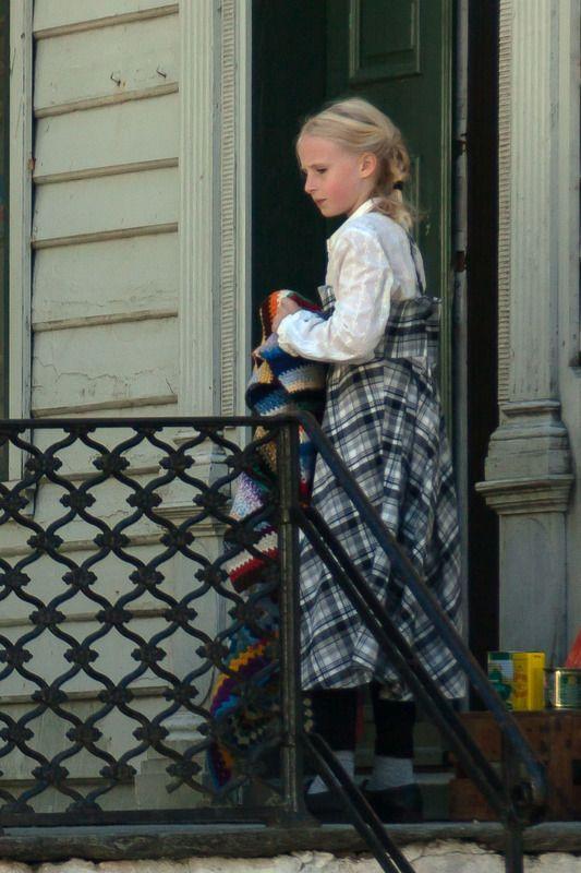 девочка, Старый Берген, Норвегия Старый Бергенphoto preview