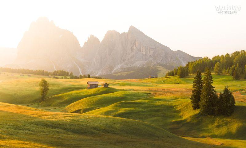 плато, доломиты, август, alpedisiusi, italy Этюд на платоphoto preview