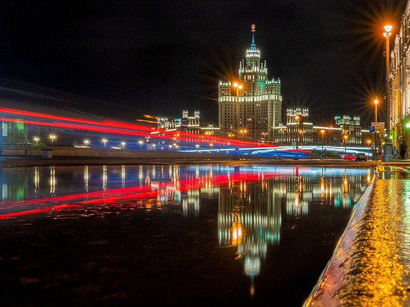 lumix russia фотограф москва  городской пейзаж  urban landscape Дождливой ночью...photo preview