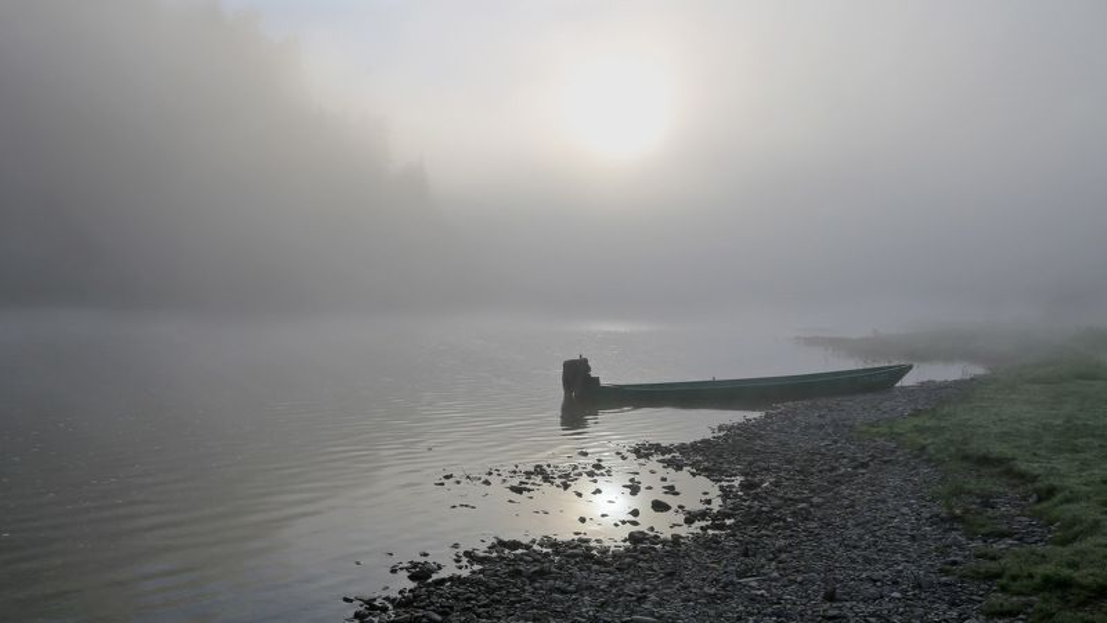горная шория, сибирь, мрассу, лето, туман Тихое утроphoto preview