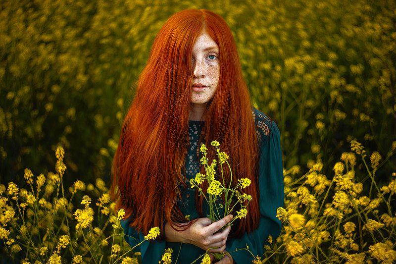 портрет, portrait, red hair, dress, платье, рыжие волосы, freckles, веснушки Алисонphoto preview