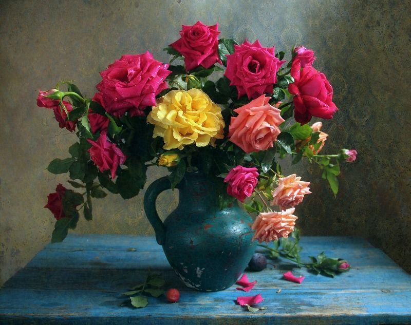 натюрморт, цветы, марина филатова, розы Как хороши, как свежи были розыphoto preview