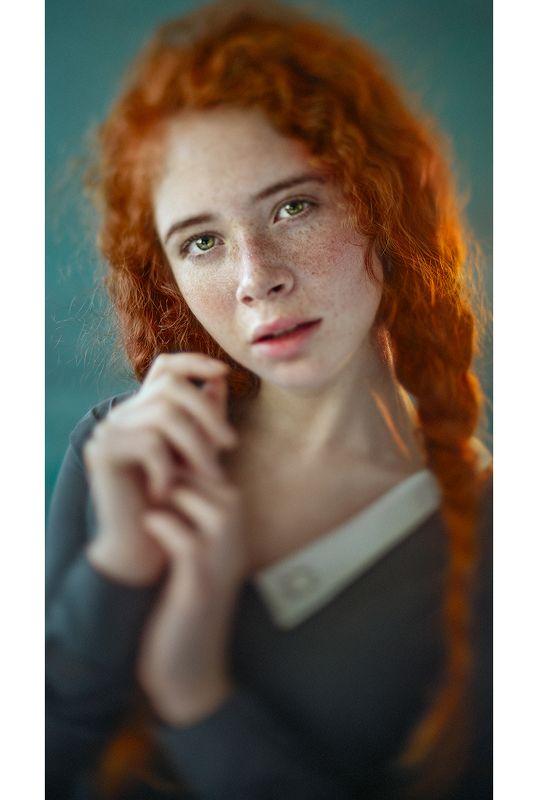 портрет, portrait, red hair, dress, платье, рыжие волосы, freckles, веснушки Валентинаphoto preview
