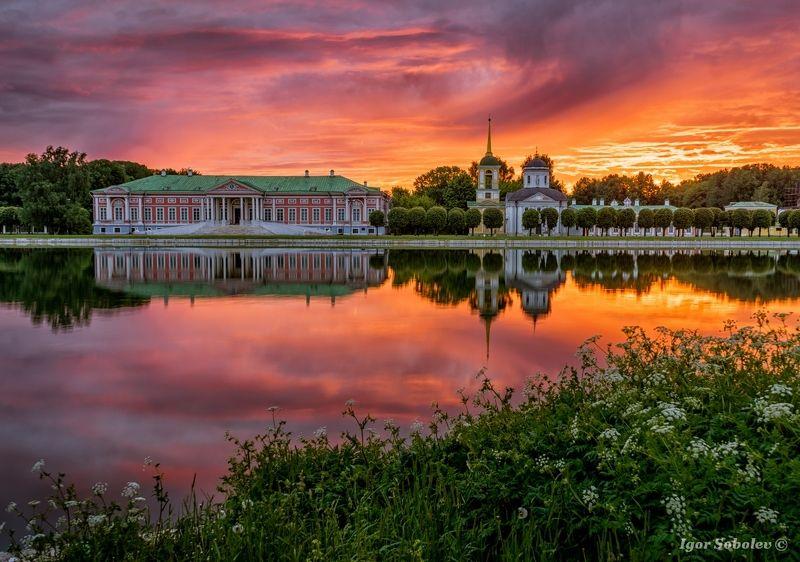 Кусково, Москва, рассвет, Kuskovo, Moscow,  dawn Рассвет в Кусково IIphoto preview