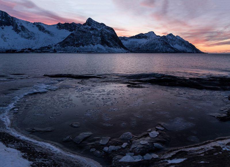 пейзаж, путешествие, берег, закат, travel, landscape, saunset На берегу вечеромphoto preview