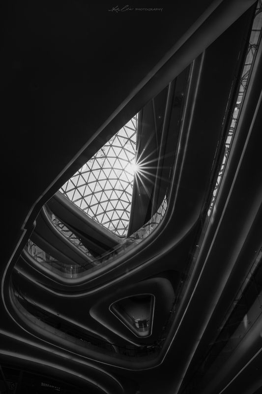 architecture, indoor, black&white,shape,geometry Recursionphoto preview