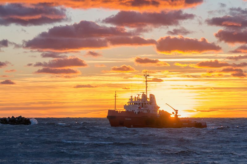 балтийское море, пейзаж, закат Домой!photo preview
