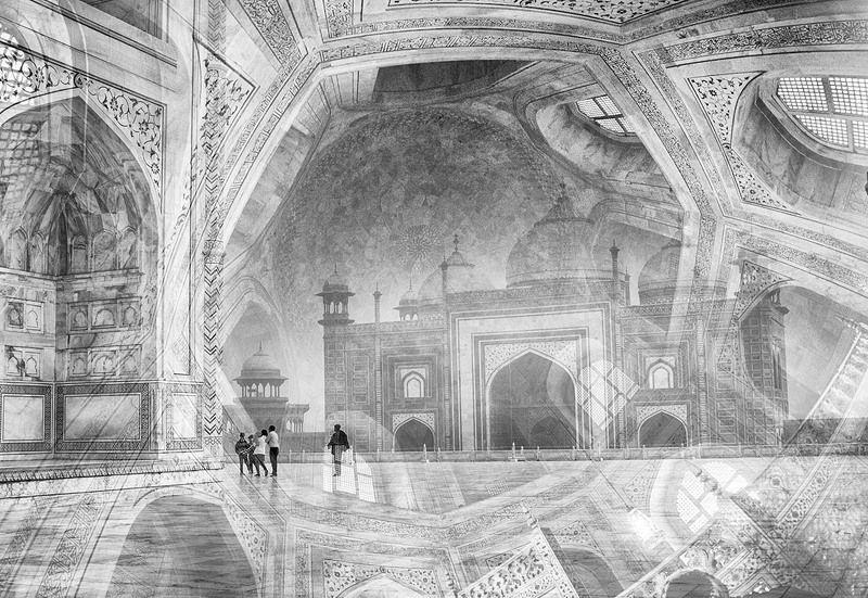 индия, тадж-махал, монохром Тадж-Махалphoto preview