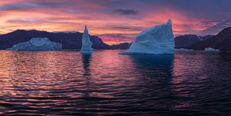 гренландия, greenland Morning in Greenlandphoto preview