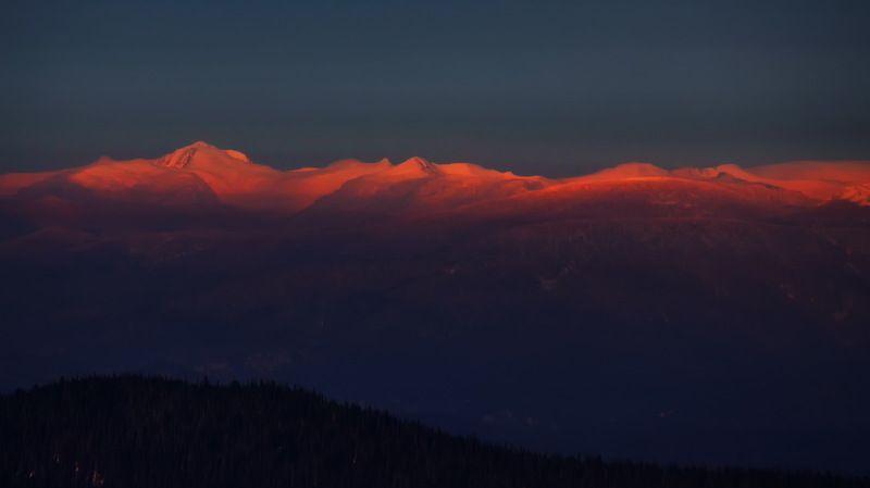 кузбасс, природа, зима, восход, закат Провожая и встречая новый день.photo preview