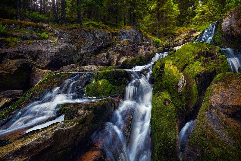 карелия, водопад, каскад, пёюхинкоски Водопад Пёюхинкоскиphoto preview