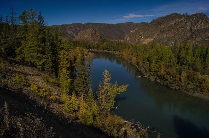 природа  алтай река  горы пейзаж путешествие осень  тени Вдоль Чуйского тракта...photo preview